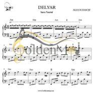 نت ساده پیانو دل یار سارا نائینی
