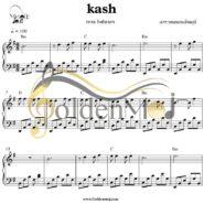 نت ساده پیانو کاش از رضا بهرام