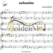 نت ساده پیانو (سلطانیم) Sultanim (مصطفی ججلی) Mustafa Ceceli
