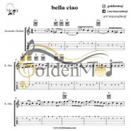 نت و تبلچر گیتار بلاچاو Bella Ciao از مانلی جمال (Maneli Jamal)