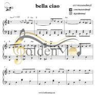نت پیانو بلاچاو Bella Ciao از مانلی جمال